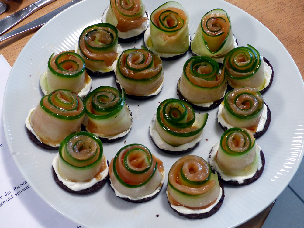 Canapes mit Lachs